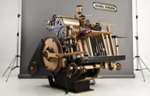 Full size Heidelberg Letterpress crafted out of paper and card