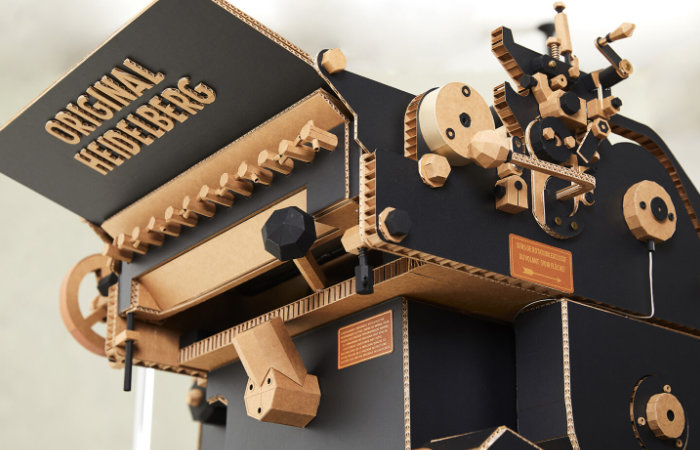 Heidelberg Letterpress crafted out of paper and card