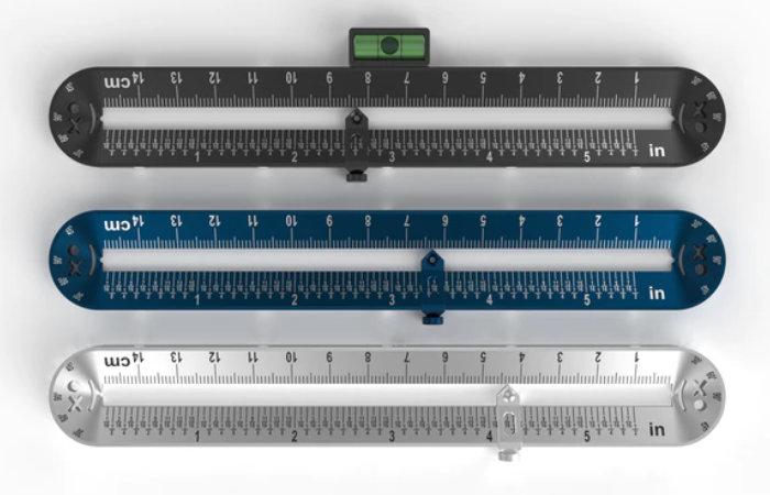 Re-ruler aluminium ruler mm inches cm