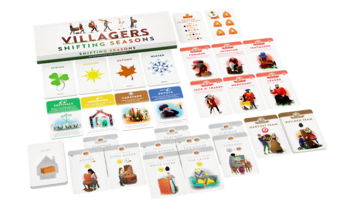Villagers card game expansion Shifting Seasons