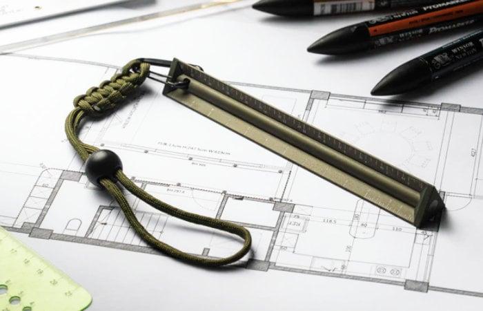 aluminum scale ruler and pencil set