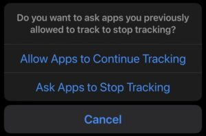 app tracking iPhone