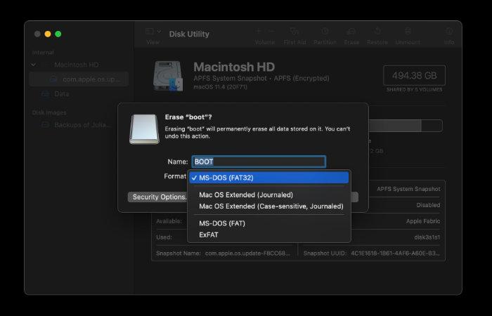 format an SD card on Mac
