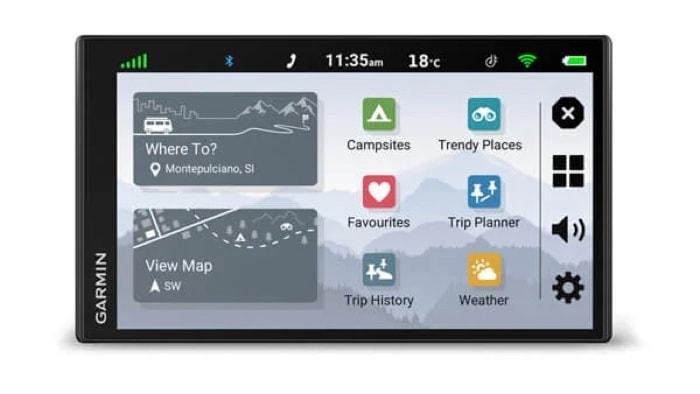 Garmin CamperVan GPS sat-nav