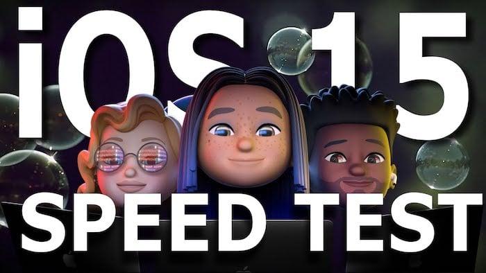 iOS 15 speed test