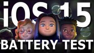 iOS 15 beta 1 battery life