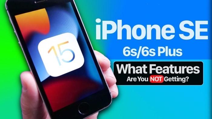 iPhone SE iOS 15