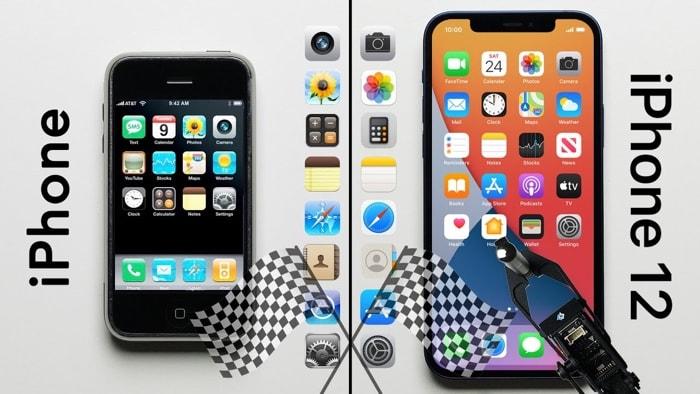 iPhone 1 vs iPhone 12