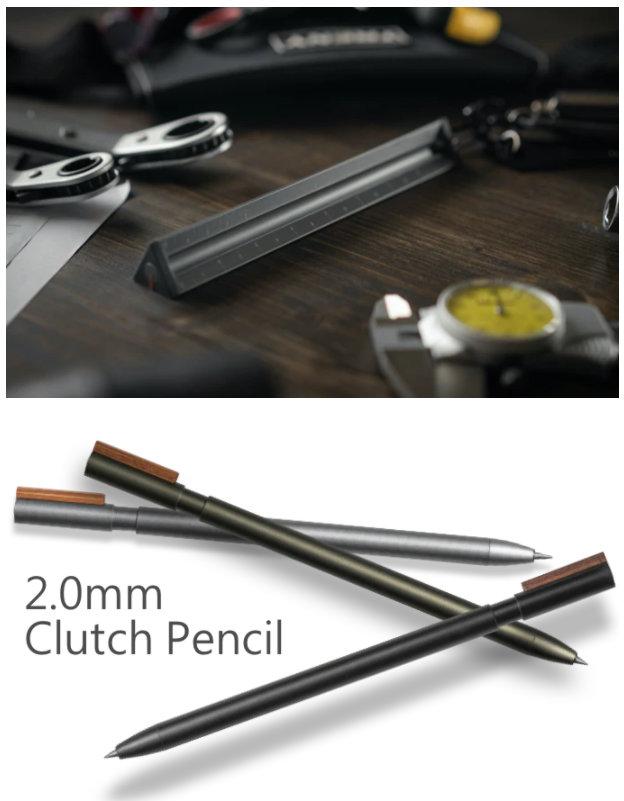pencil and aluminium ruler set