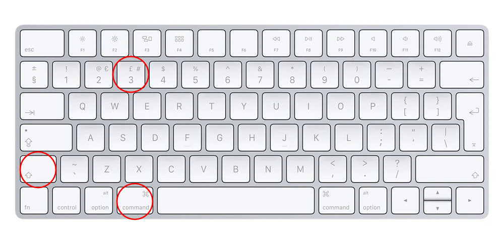 to take a screenshot on your Mac press command shift 3