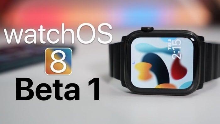 WatchOS 8 beta 1