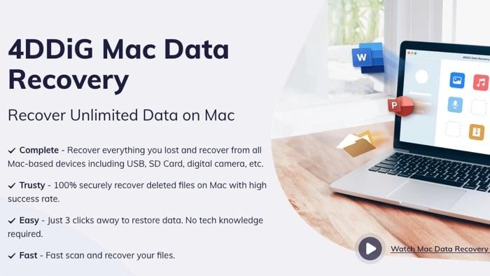 4DDiG Mac Data Recovery