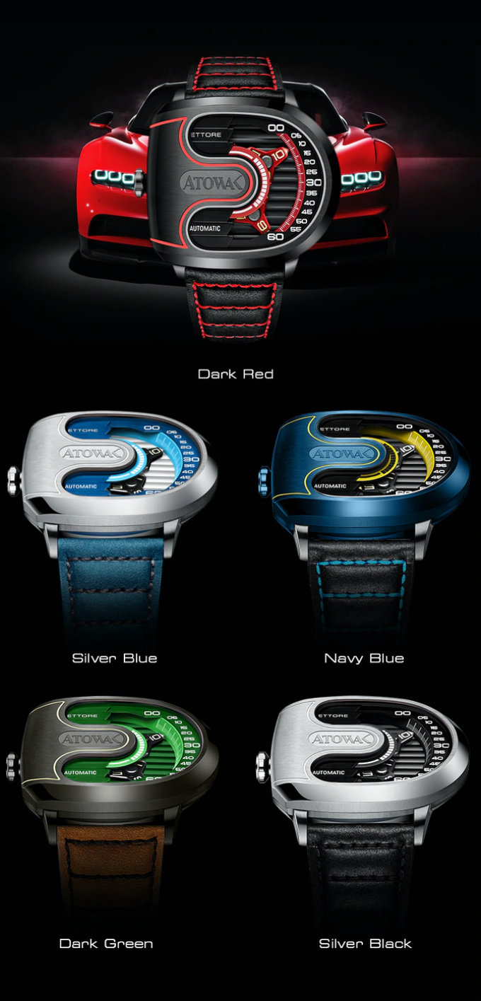 ATOWAK ETTORE racecar inspired automatic watch