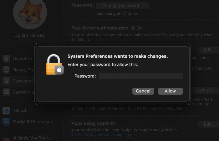 change on your Mac
