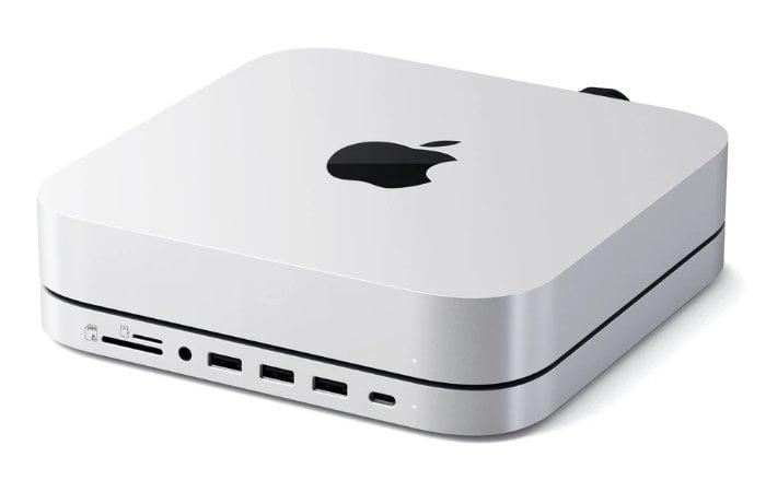 Apple Mac Mini USB-C hub, stand and external SSD