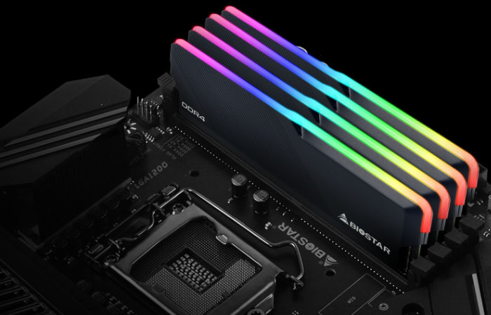 BioStar motherboard and RGB memory