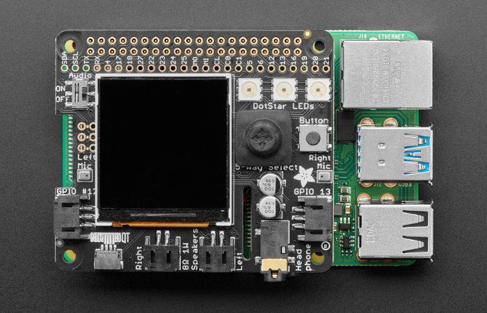 Adafruit BrainCraft HAT Machine Learning Raspberry Pi