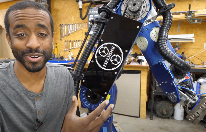 Building a 7 axis industrial robot arm from scratch