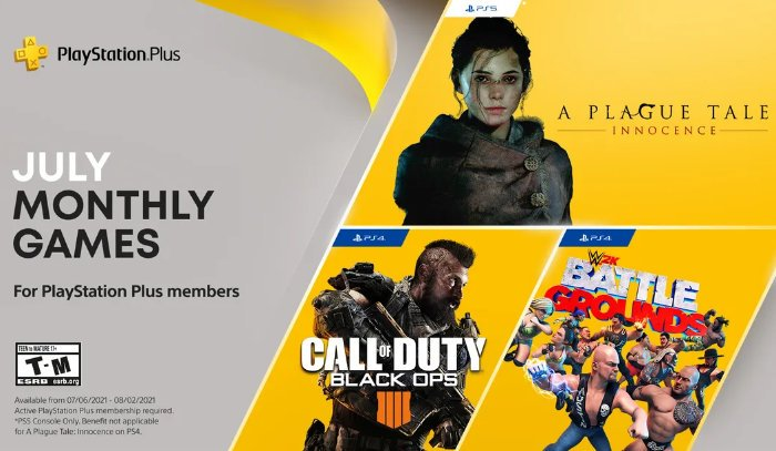Free PlayStation Plus games for July 2021