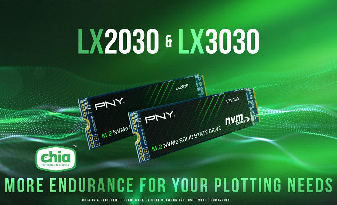 M.2 NVMe Gen3 x4 SSDs for Chia Plotting