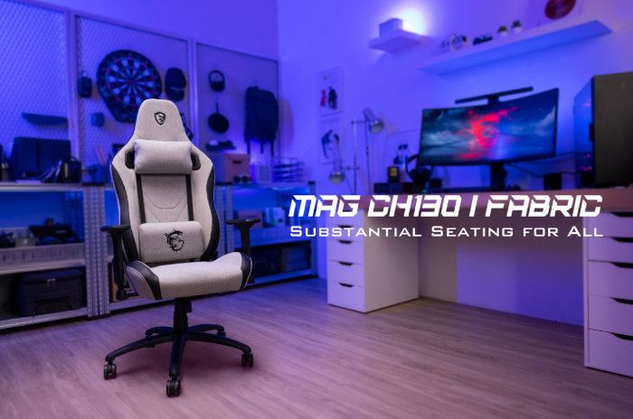 MSI MAG CH130 gaming chairs with REPELTEK fabric