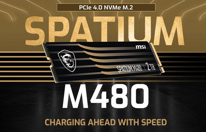 MSI SPATIUM M-series M.2 NVMe SSD drive