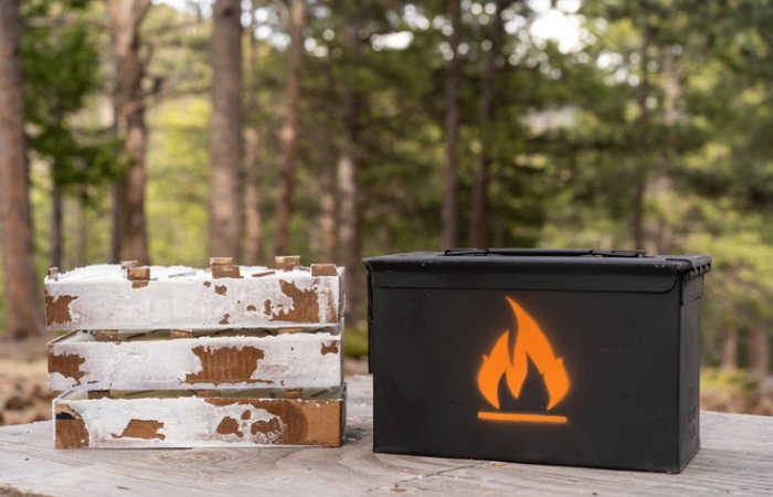 Magic Fire Box compact campfire grill for outdoor cooking