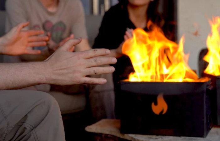 Magic Fire Box compact campfire grill