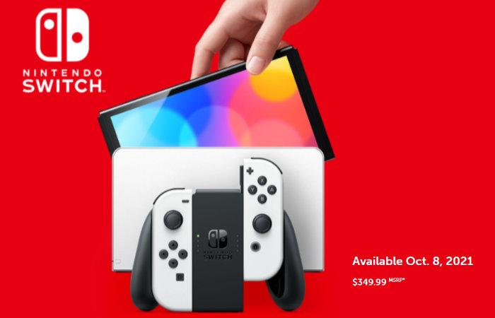 Nintendo Switch OLED handheld