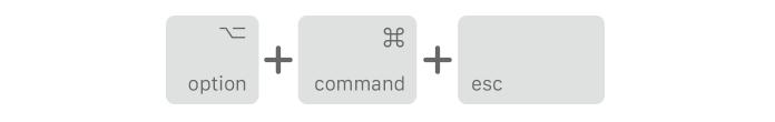 Option Command Escape shortcut on Mac