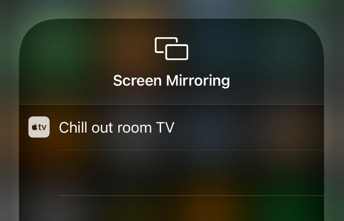 mirroring selection window iOS