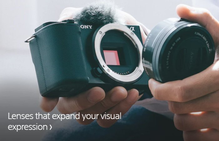 Sony ZV-E10 vlog camera with interchangeable lens