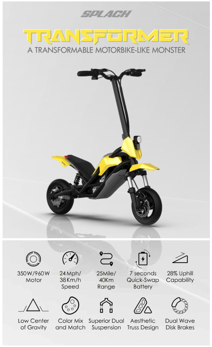 Splach off-road scooter