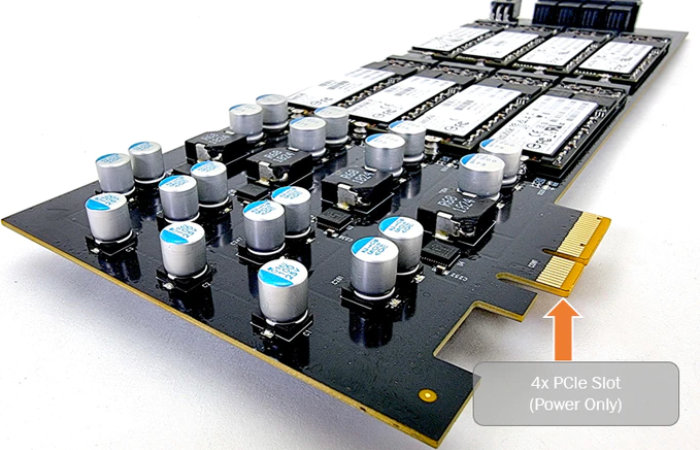 Storage Scaler a 16 x M.2 SATA III SSD expansion card