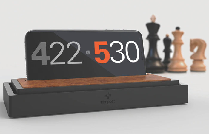 Tempest phone chess clock stand