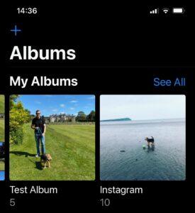how to delete album iPhone