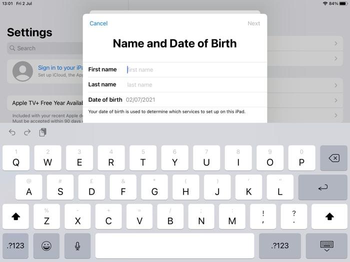 input your name