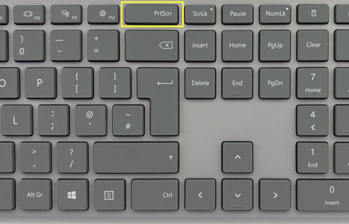print screen key on keyboard
