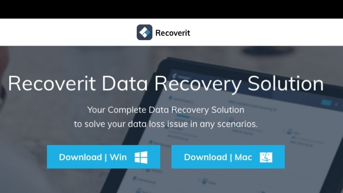 Recoverit Data Recovery Mac