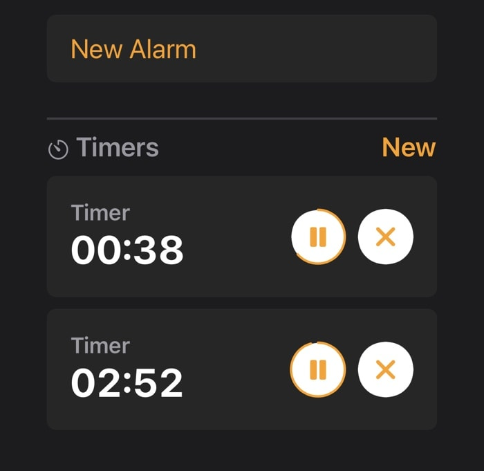 multiple timers