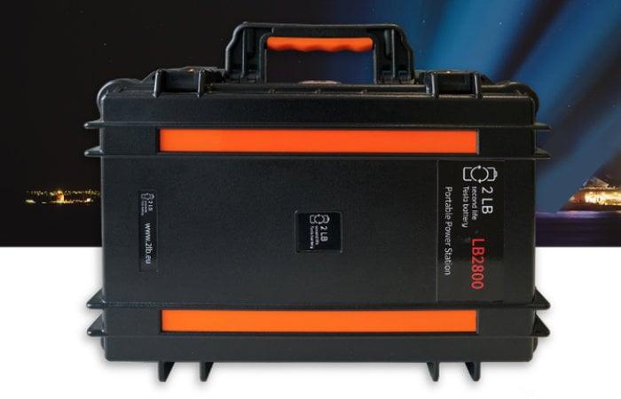 2LB Battery power bank features Tesla batteries