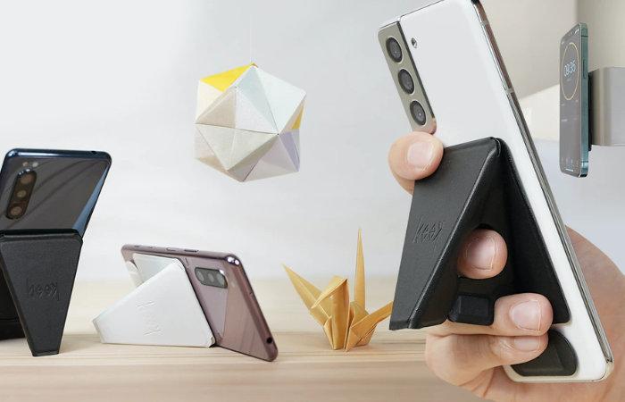 Beak origami inspired iPhone stand