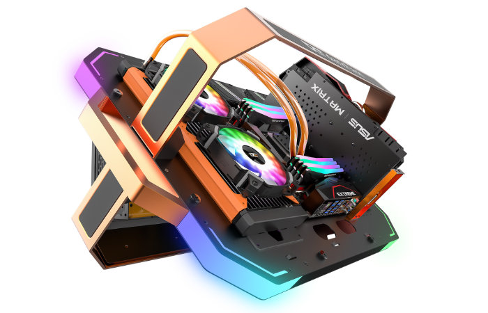 Blade-X PC open chassis case
