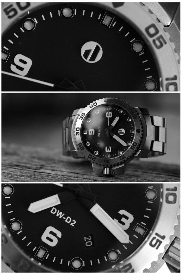 DW-D2 diving watch hits Kickstarter