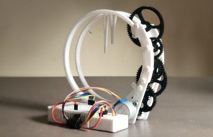 Holo Clock unique 3D printed ring clock