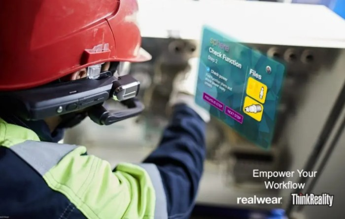 Lenovo RealWear HMT-1 wearable assisted reality solutions