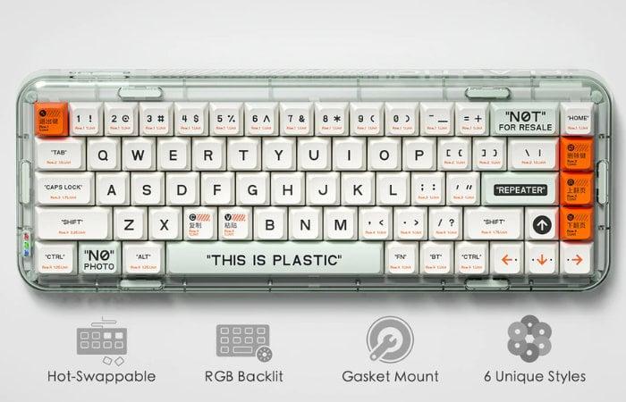 Mojo68 programmable mechanical keyboard