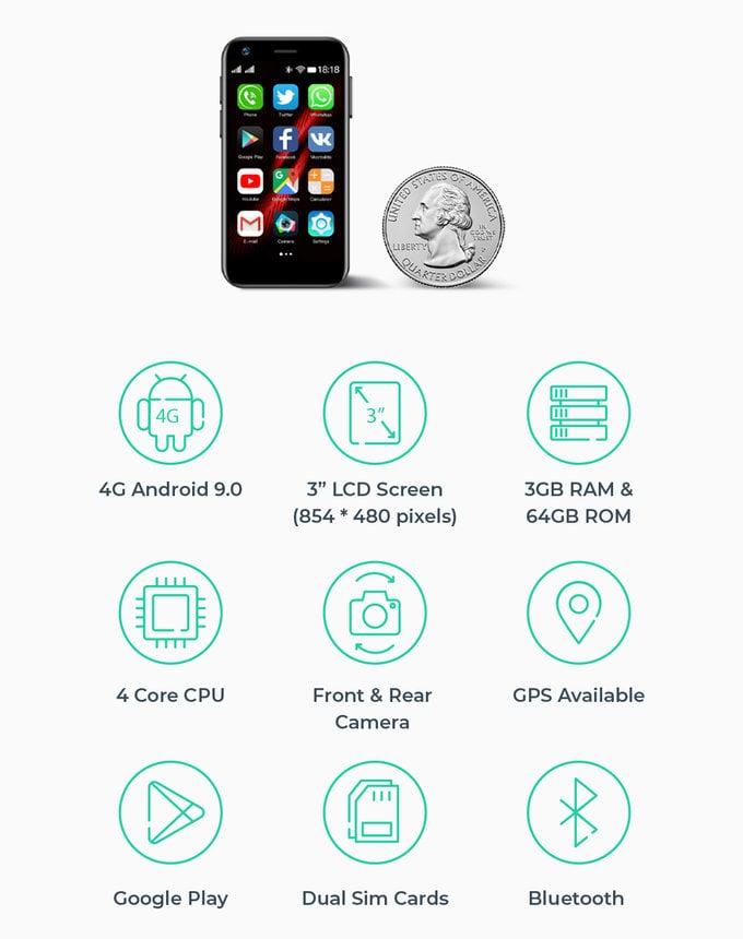 Mony Mint mini 4G phone