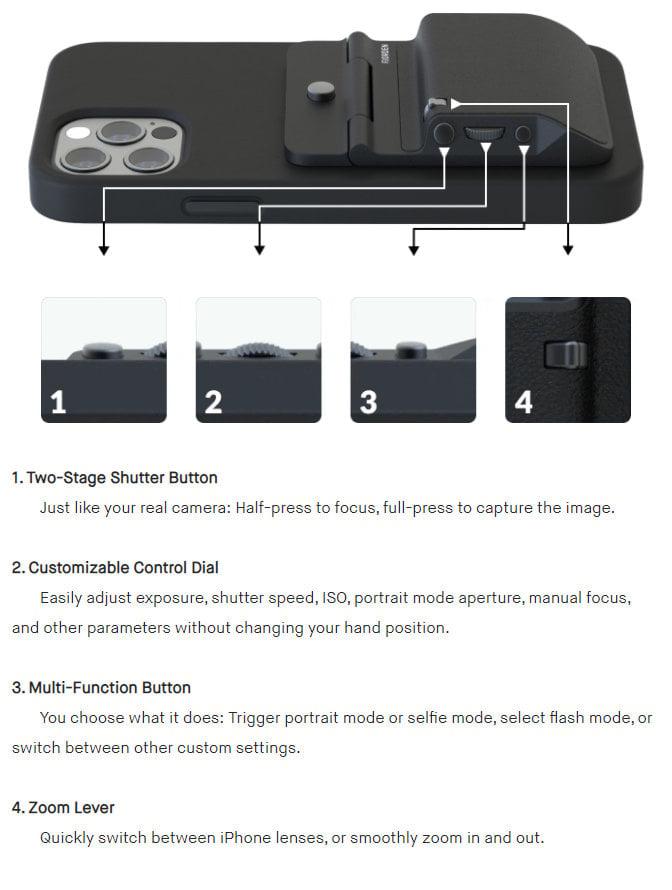 iPhone manual camera controller
