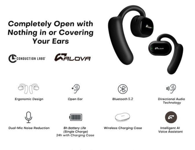 Etude open ear wireless headphones
